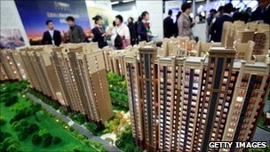Customers at a property launch in China
