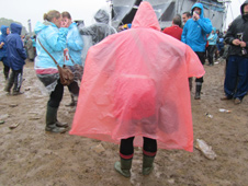 Rain at Isle of Wight festival