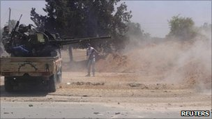 Libyan rebels near Misrata, 12 June