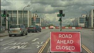 Secklow Gate Bridge in Milton Keynes