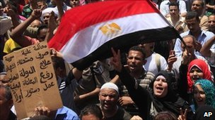 Egyptians protest in Tahrir Square, 3 June