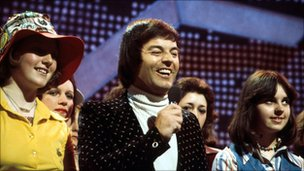 Tony Blackburn presenting Top of the Pops in 1970