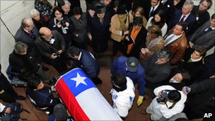 Salvador Allende's remains were exhumed on 23 May 2011