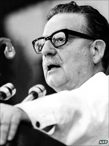 Picture of late Chilean President Salvador Allende, taken in February 1973.