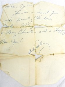 The letter being auctioned