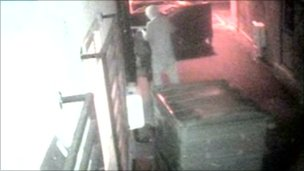 CCTV of Sanchez Gayle with gun