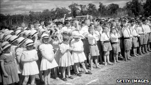 Children at Fairbridge Farm School in 1934