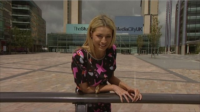 Tess Daly in Salford