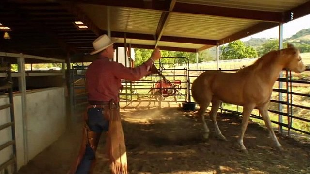 A scene from the documentary about Buck Brannaman