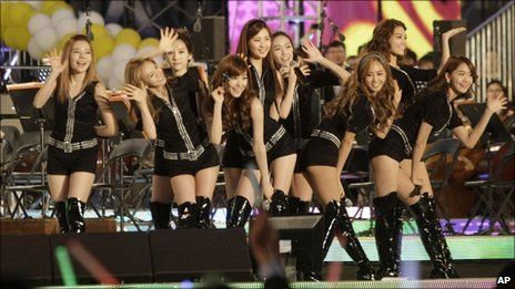 South Korean pop group Girls' Generation perform in Seoul, South Korea, on 14 May, 2011