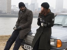 Idris Elba and Ruth Wilson in Luther