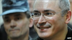 Mikhail Khodorkovsky (right). File photo
