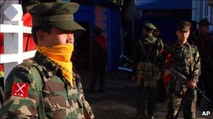 File photo of a soldier from the Kachin Independence Army, January 2010 