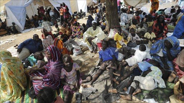 People in Kadugli town June 9, 2011
