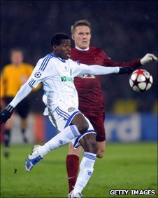 Yusuf Ayila in action for Dynamo Kiev