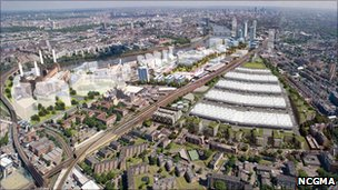 Plans for the redevelopment of Nine Elms