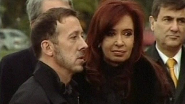 James Peck and Argentine President, Cristina Fernandez.