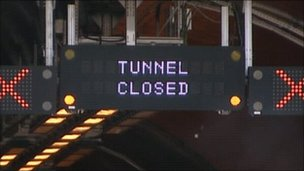 Emergency exercise in Hindhead tunnel