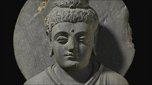 Seated Buddha from Gandhara