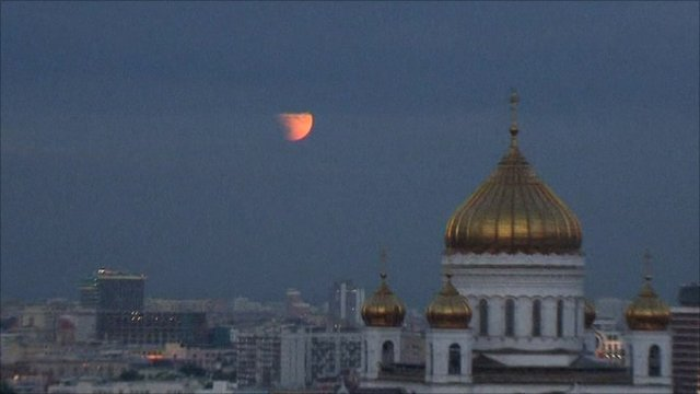 The Moon as it was seen in Moscow