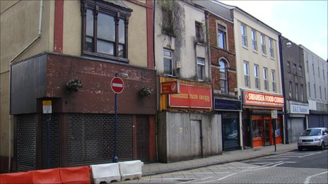 Swansea's High Street has come in for much criticism