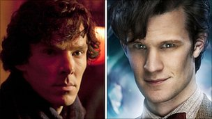 Benedict Cumberpatch and Matt Smith