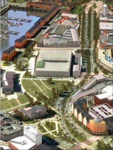 Swansea city centre boulevard project