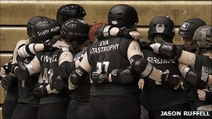 Manchester Roller Derby team members