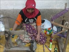 A traditional weaver in West Java