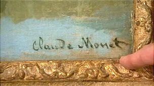 The signature on the disputed painting