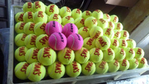 Tennis balls made at the Price factory in Box, near Bath