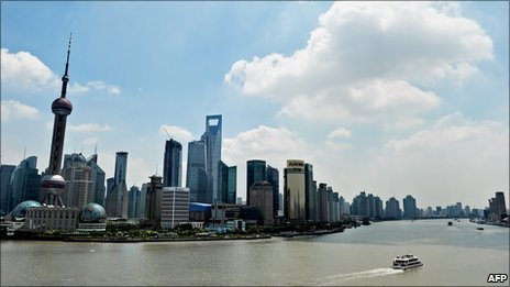 The skyline of the Shanghai&#039;s financial district