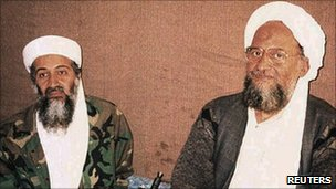 Osama Bin Laden (left) and Ayman al-Zawahiri (file photo)