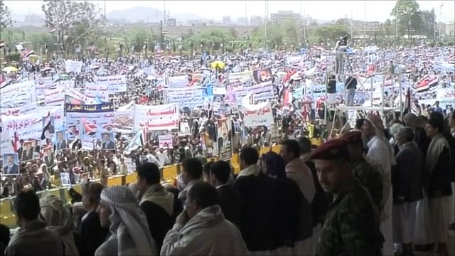 Pro Saleh supporters