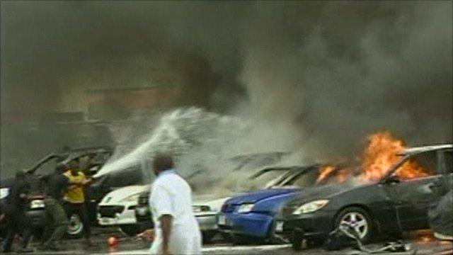 Aftermath of blast in Nigeria