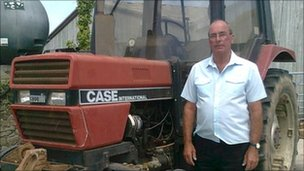 John Thorne and tractor