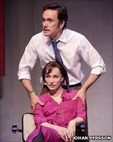 Ben Miles and Kristin Scott Thomas in Betrayal