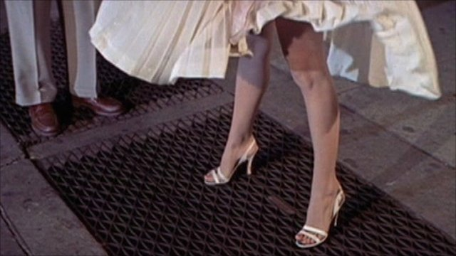 Marilyn Monroe's legs from the film Seven Year Itch