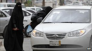 Women getting a taxi in Riyadh, Saudi Arabia (file image)