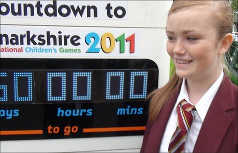 The International Children's Games 2011 countdown clock