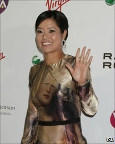 Li Na arrives for the WTA pre-Wimbledon party
