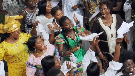 A church congregation in Accra, Ghana