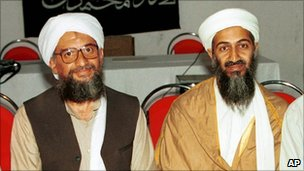 Osama Bin Laden and Ayman al-Zawahiri - 2001
