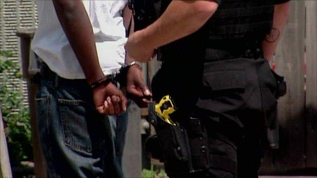 Man handcuffed in Ohio