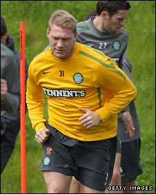 Garry O'Connor trains with Celtic