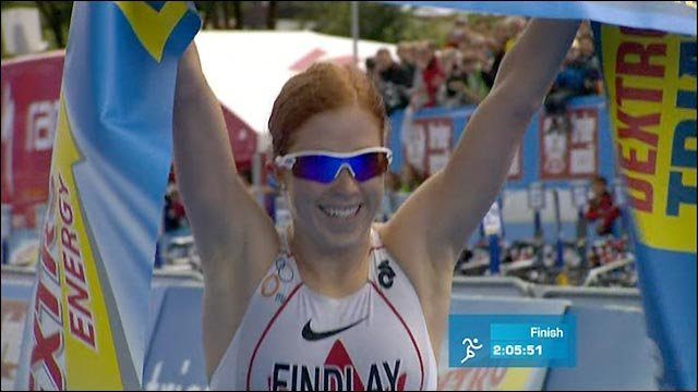 Paula Findley pips Helen Jenkins in triathlon thriller