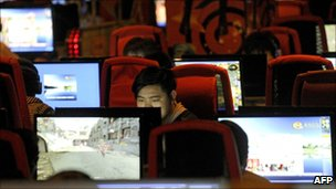 Internet cafe in Beijing, China - 12 May