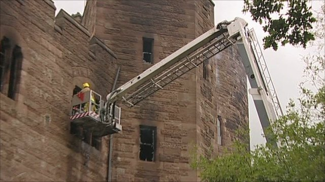 Fire at Peckforton Castle