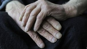 Elderly man&#039;s hands