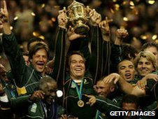 South Africa celebrate their 2007 triumph